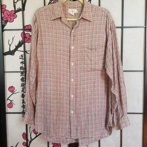 J. Crew Linen Plaid Checkered Button Front Shirt